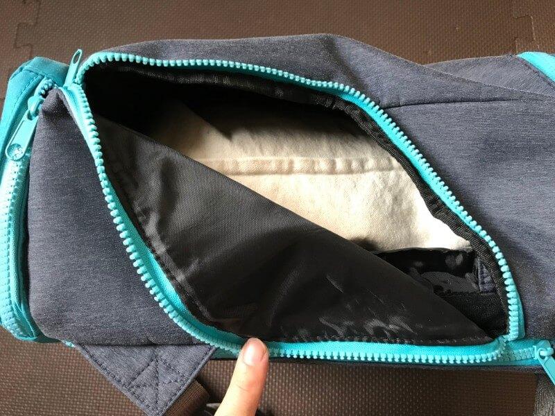 UPQ Bag BP02miniのサイドジッパー開けたところ
