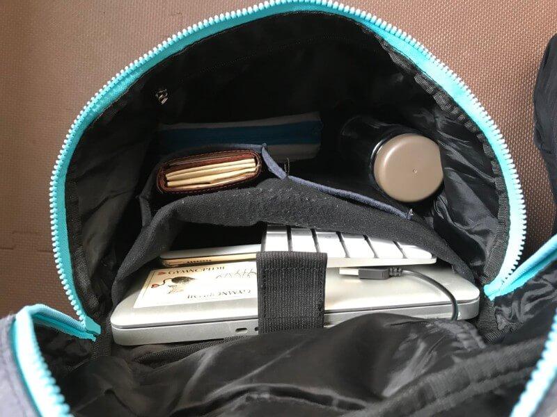 UPQ Bag BP02miniに荷物を入れたところ