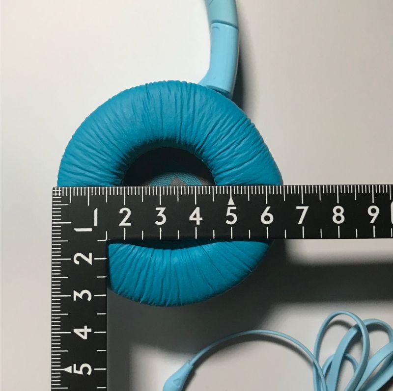 「JBL JR300」のイヤーパッド直径