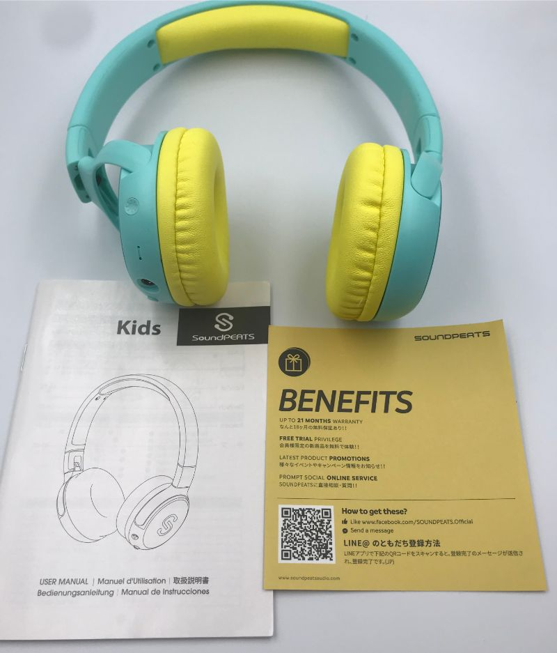 SoundPEATS KIDSの付属品